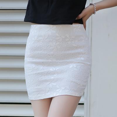 2018夏季新款女装半身裙子蕾丝包臀裙短裙弹力包裙修身一步裙半裙