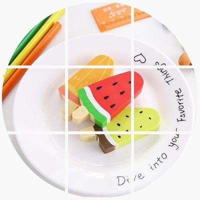 看起来像可以吃的文具卡通创意可爱冰棒水果造型橡皮擦 学生儿童