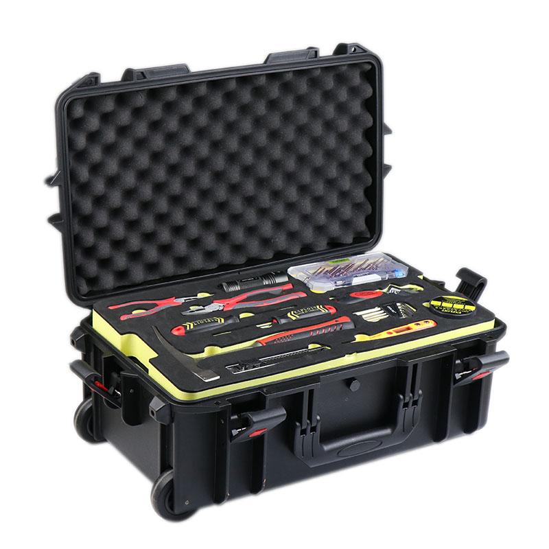 开拓 可订制机修汽修电工家用工具箱套装 拉杆工具箱组套 091020