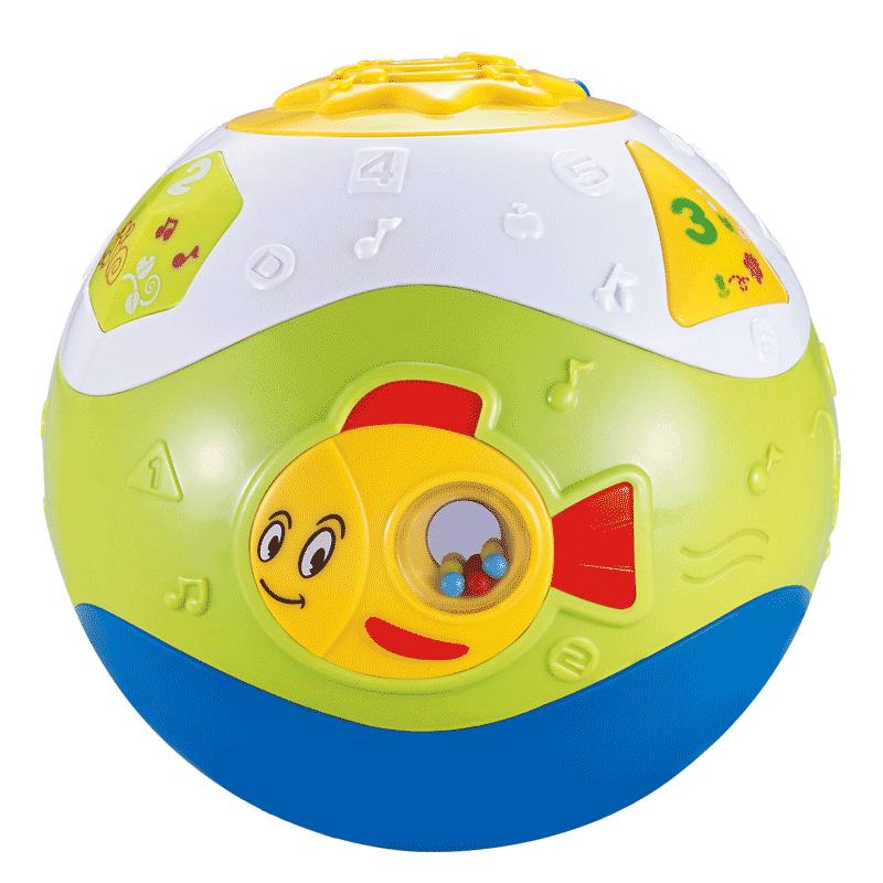宝宝学爬玩具电动爬行球6-12个月8小娃娃早教益智婴幼儿爬行玩具