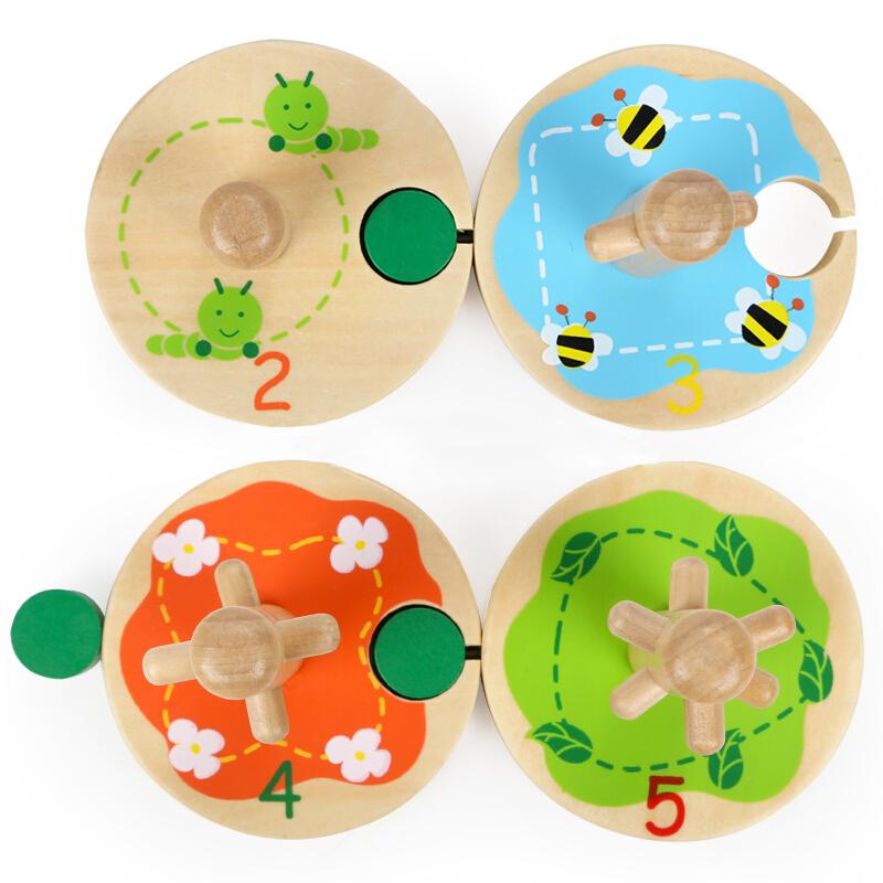 特宝儿宝宝益智力颜色套柱玩具儿童木制四柱套装几何形状配对积木