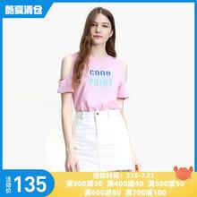【购物周135元】ochirly欧时力挖空亮片短袖T恤1GZ2028930