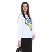 宽松字母卡通印花卫衣式长袖 T恤1HN1022990 ochirly欧时力新女装