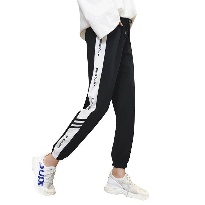 加绒运动裤女秋冬季2018新款学生宽松韩版显瘦嘻哈伦羊羔绒休闲裤
