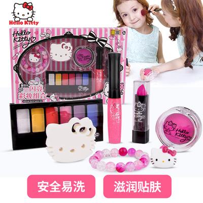 凯蒂猫儿童化妆品套装小孩口红女孩宝宝公主彩妆盒幼儿小学生