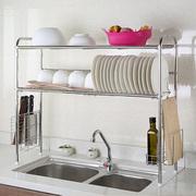 1208S单双水槽碗架304不锈钢沥水架厨房置物收纳架子刀架厨具用品
