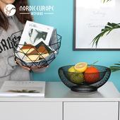 诚艺创意北欧简约几何水果盘家居餐桌茶几摆设果篓零食收纳装饰品