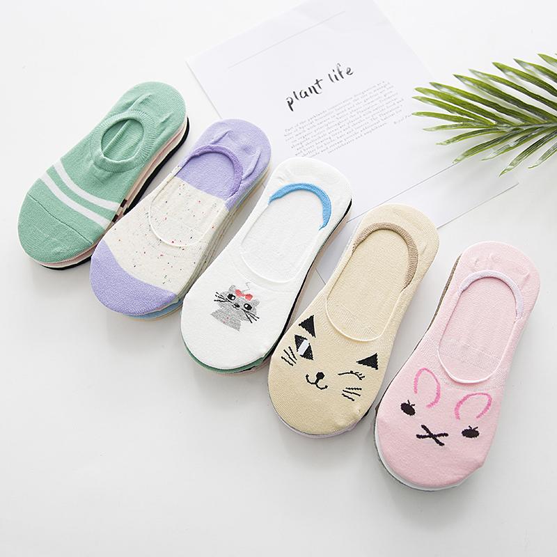 袜子女日系韩国学院风纯色春夏船袜女短袜可爱短筒女袜浅隐形棉袜