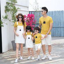 全家福服装夏季亲子套装一家三口四口家庭装暑假亲子旅游拍照衣服