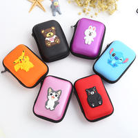 Data cable storage bag headset mobile phone charger storage box portable digital accessories finishing power cord charging line u shield small storage bag Bluetooth headset multi-function storage box cartoon cute