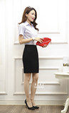 Summer short-sleeved white shirt OL wear suits business dress two-piece uniforms overalls tooling interview women