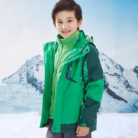Children's jacket outdoor three-in-one jacket boys plus velvet thickening children's clothing windproof autumn and winter 2018 new