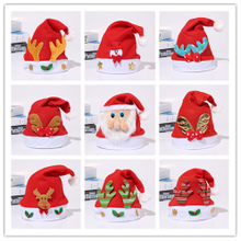 Christmas decorations, adults, children, costumes, buttons, headgear, snowman, antlers, hoops, and Christmas hats.