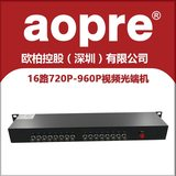 AOPRE Uber 16 Road Dahua CVI Haikang TVI HWANGAI Coax HD Optical End Machine 16 Coaxial Optical End AOPRE-T/R16CVI1FD