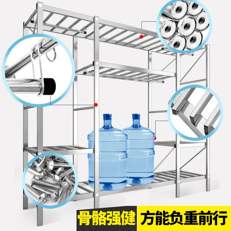 衣柜简易布衣柜收纳布柜不锈钢管加厚加粗加固全钢架螺丝组装柜子