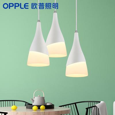 欧普照明 led吊灯餐厅灯具三头餐吊灯饰 现代简约创意个性吧台CD