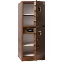 虎牌双门保险柜3C入墙香槟1.5米指纹保险箱全钢大型家用可定制