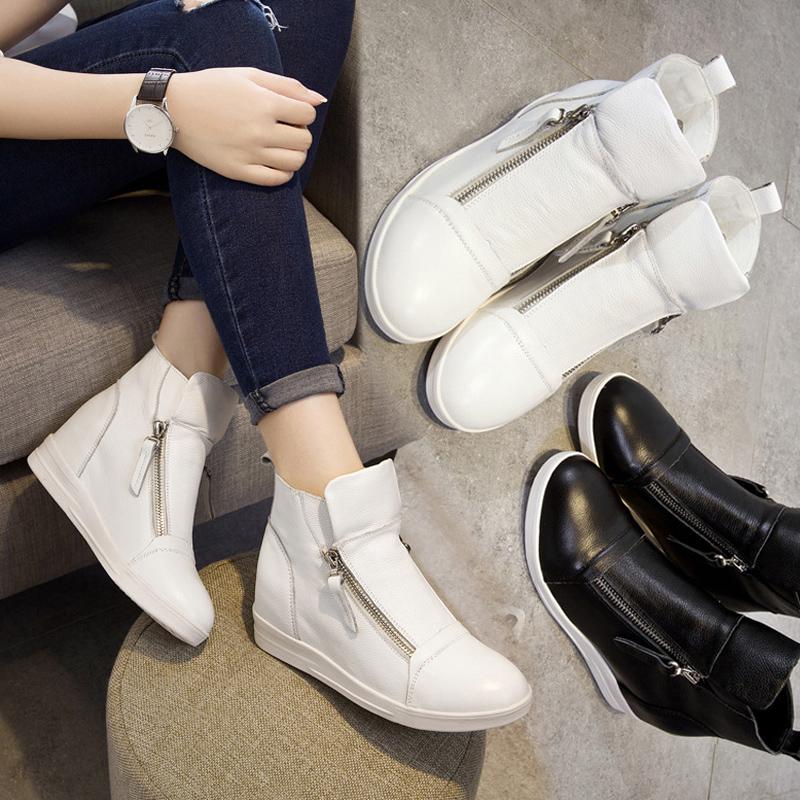 内增高女鞋纯皮