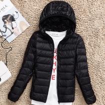 2017冬装新款薄款羽绒服女轻薄短款连帽大码修身显瘦轻便韩版外套