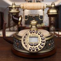 美式玉石仿古电话机欧式家用固定办公电话老式古董复古电话机