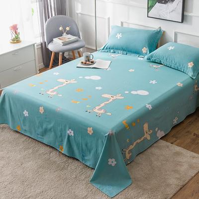 全棉床单单件纯棉学生宿舍1.2m单人床1.5双人1.8/2.0米床棉布被单