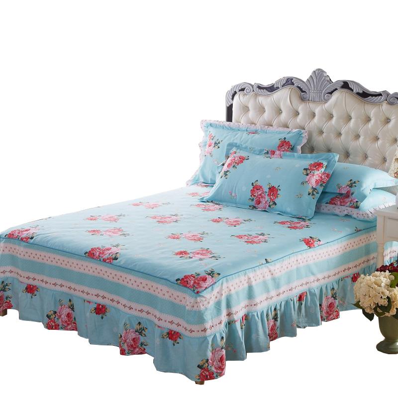 艺皇全棉床裙单件 纯棉床罩床单床裙床垫保护套罩床套1.5/1.8m床