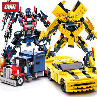古迪乐高积木6变形机器人金刚7儿童拼装玩具8男孩子9益智10岁智力销量排行