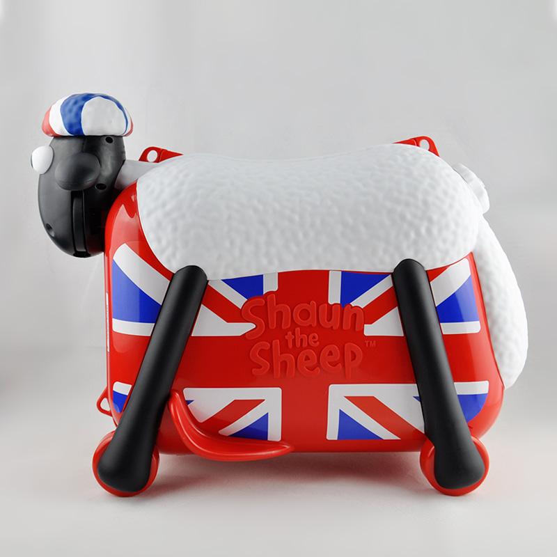 小羊肖恩骑行旅行箱 儿童行李箱可坐可骑宝宝卡通箱子小孩骑行箱