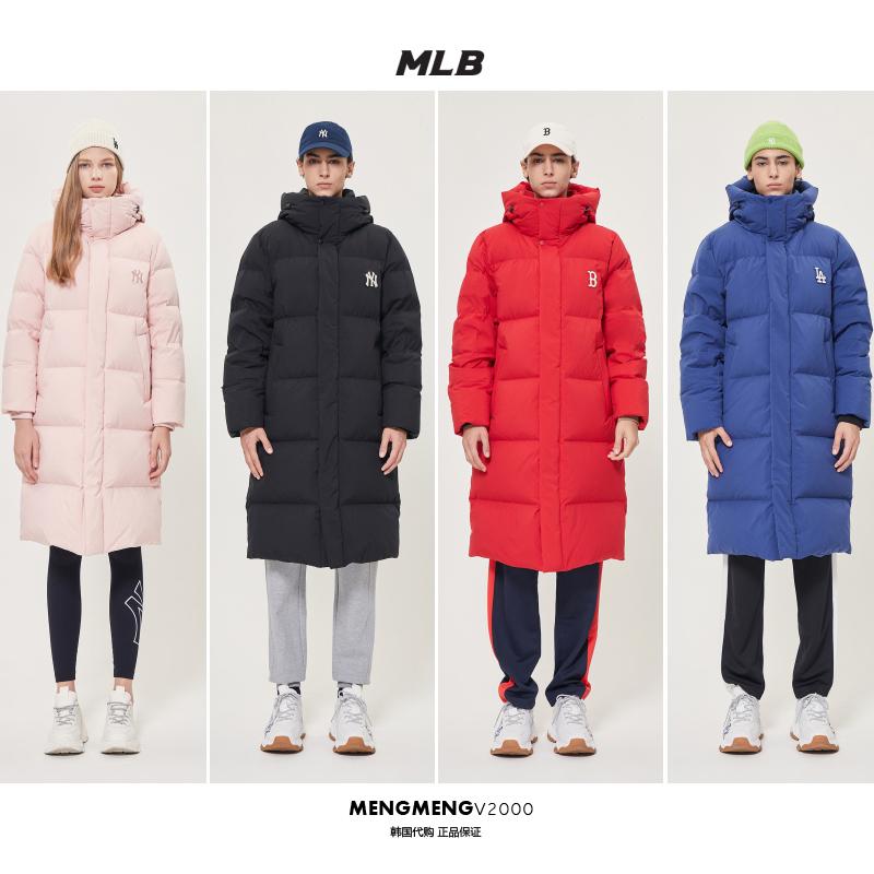 韩国直邮 MLB基础款羽绒服修身长款过膝男女同款2019新 31DJ02961