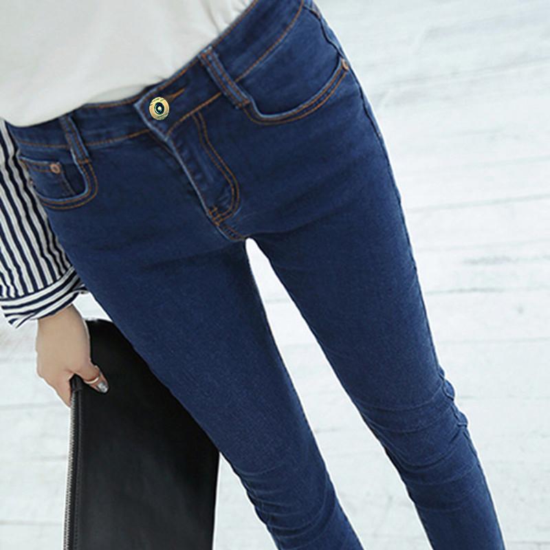 夏季高腰牛仔铅笔裤