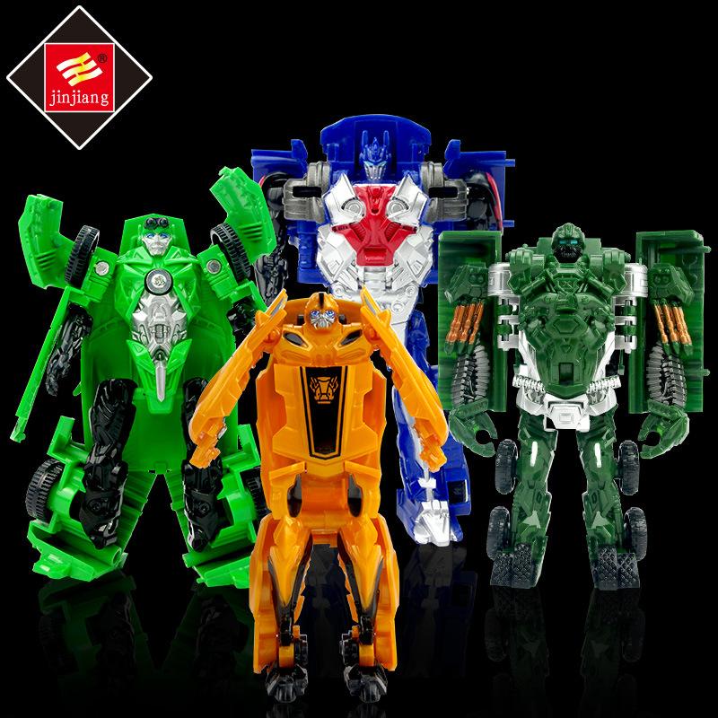 锦江变形玩具金刚5 大黄蜂擎天四合一礼盒装迷你小汽车机器人玩具