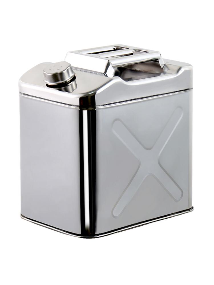 加厚304不锈钢油桶 汽车备用油箱 20L30L10升汽油柴油壶 食用油桶