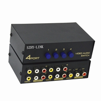 SZHY-LINK AV switcher 4 four in one out with audio and video AV switcher 4 into 1 out AV splitter