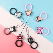 Mobile phone lanyard silicone ring u disk key pendant short cartoon ring buckle female models drop-proof cute vibrato with the donut lanyard short rope Apple Huawei millet OPPO mobile phone universal