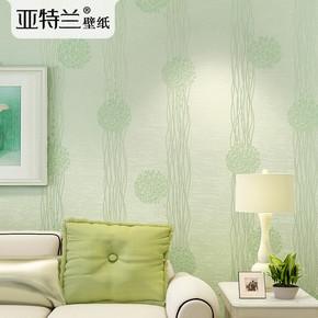 亚特兰 浪漫韩式田园墙纸卧室温馨婚房蒲公英壁纸无纺布女孩粉色