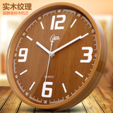 Kambas living room creative simple modern solid wood silent wall clock bedroom round quartz clock big clock