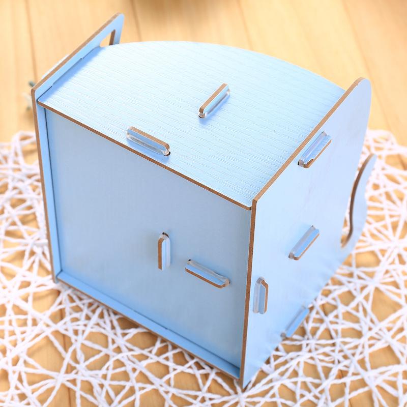 韩式创意diy文具桌面化妆品收纳盒笔筒木质笔盒办公多功能收纳箱办公室整理储物盒文件夹收纳盒宿舍置物架