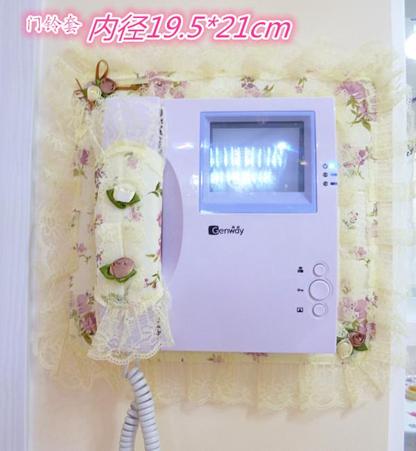 一件包邮蕾丝布艺 可视电话套 可视门铃套楼宇对讲电话罩电闸套罩