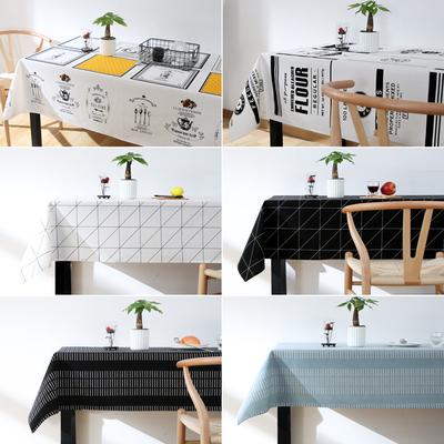 ins棉麻布艺防水桌布 北欧现代清新客厅茶几餐桌垫长方形家用盖布有假货吗