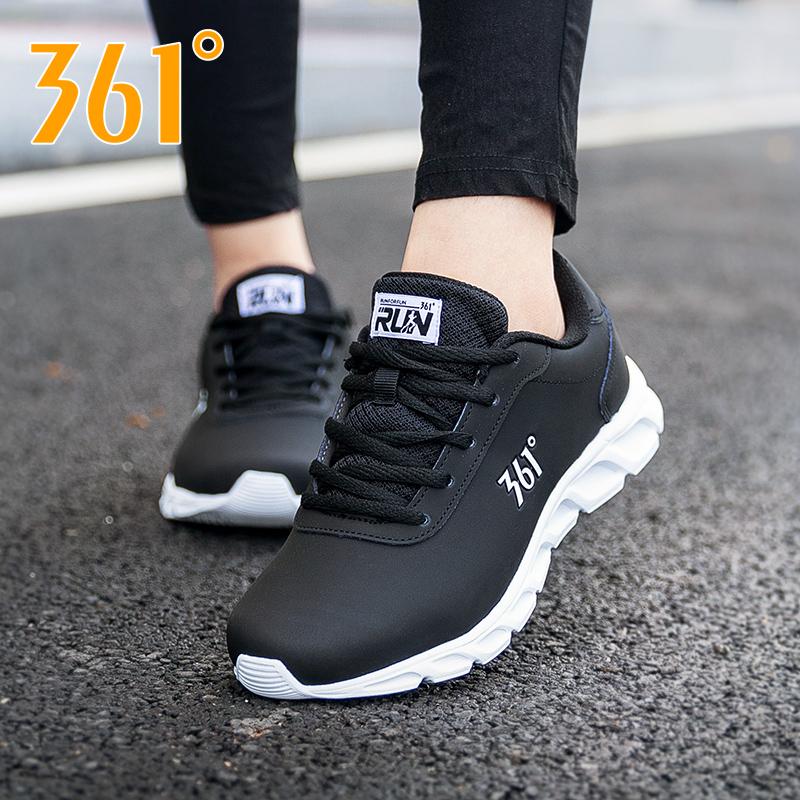 361女鞋运动鞋2019冬季新款361度秋冬皮面休闲鞋子学生耐磨跑步鞋