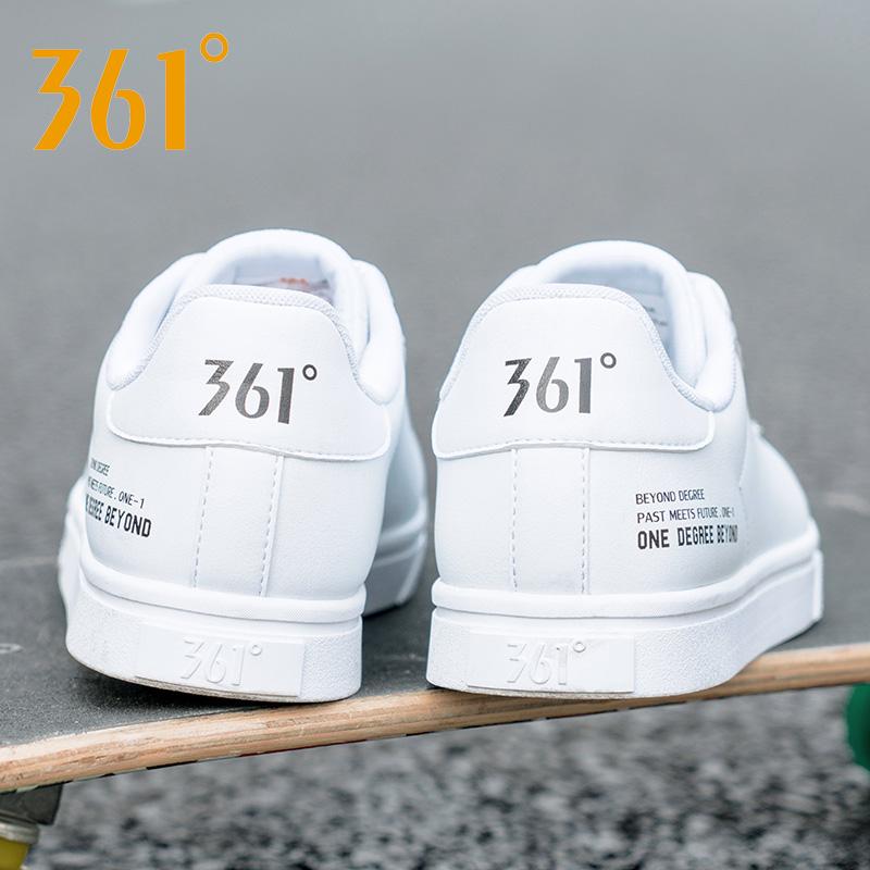 361男鞋板鞋冬季361度白色小白鞋秋冬休闲鞋子防水保暖潮运动鞋男
