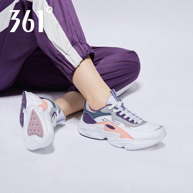361女鞋 运动鞋冬季361度正品皮面休闲鞋子ins超火的老爹鞋跑步鞋