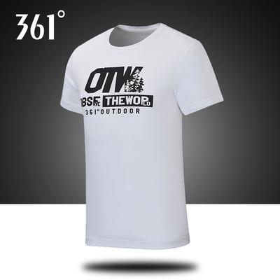 361男装短袖T恤2019夏季新款361度运动服速干透气休闲半袖上衣男