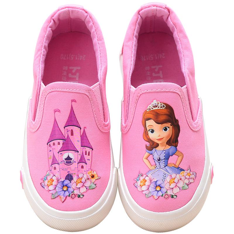 儿童帆布鞋女童小白鞋学生鞋低帮板鞋宝宝鞋休闲鞋春季 女童布鞋