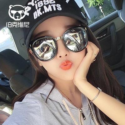 太阳镜女潮2018韩国明星同款时尚大框墨镜复古偏光镜圆脸个性眼镜