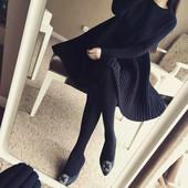 针织连衣裙 秋冬新款 女长袖 毛衣打底衫 上衣中长款 女装 胖妹妹加大码