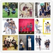2018影楼新款亲子装 儿童拍照服装 韩版全家福主题摄影拍照服装