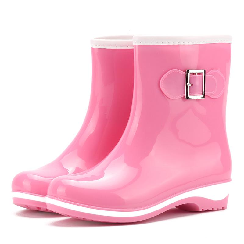 2018夏韩版雨鞋女中筒套鞋春秋时尚水鞋女式果冻雨鞋防水雨靴韩国