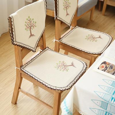 布艺椅垫棉四季通用餐桌坐垫透气防滑夏季屁股垫子凉椅垫套靠背巾