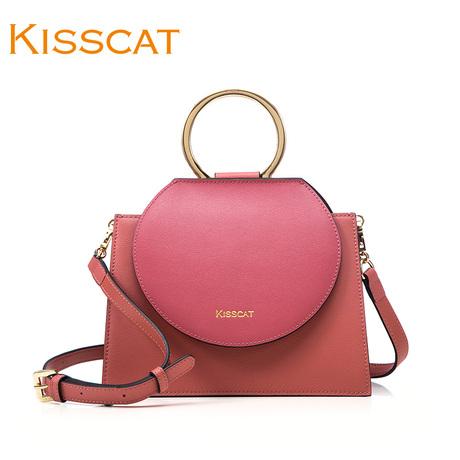 KISSCAT接吻猫春夏新款女包 真皮手提斜挎单肩小包DB981L3-51商品大图